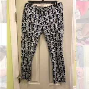 JCREW Size 2 Cropped Ankle Stretch Pants Nautical